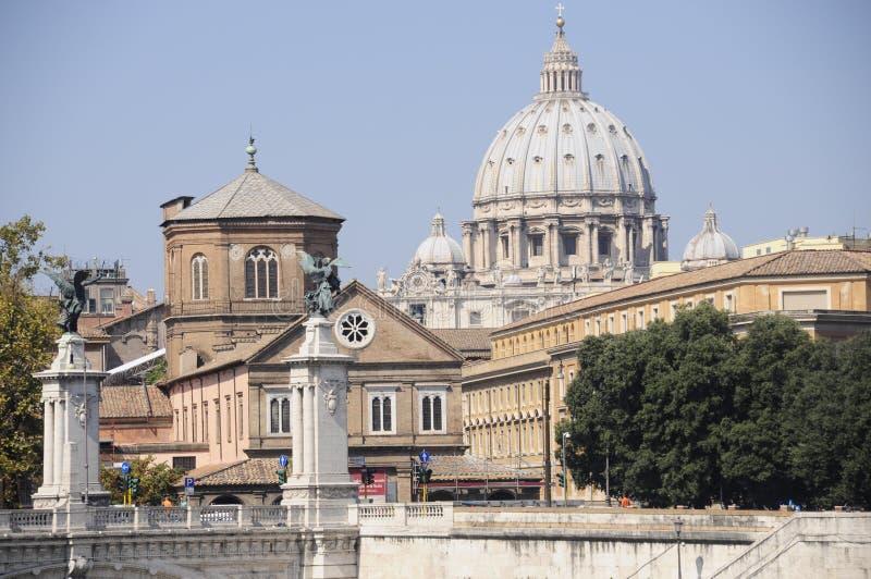 Dessus de toit de Rome photo libre de droits