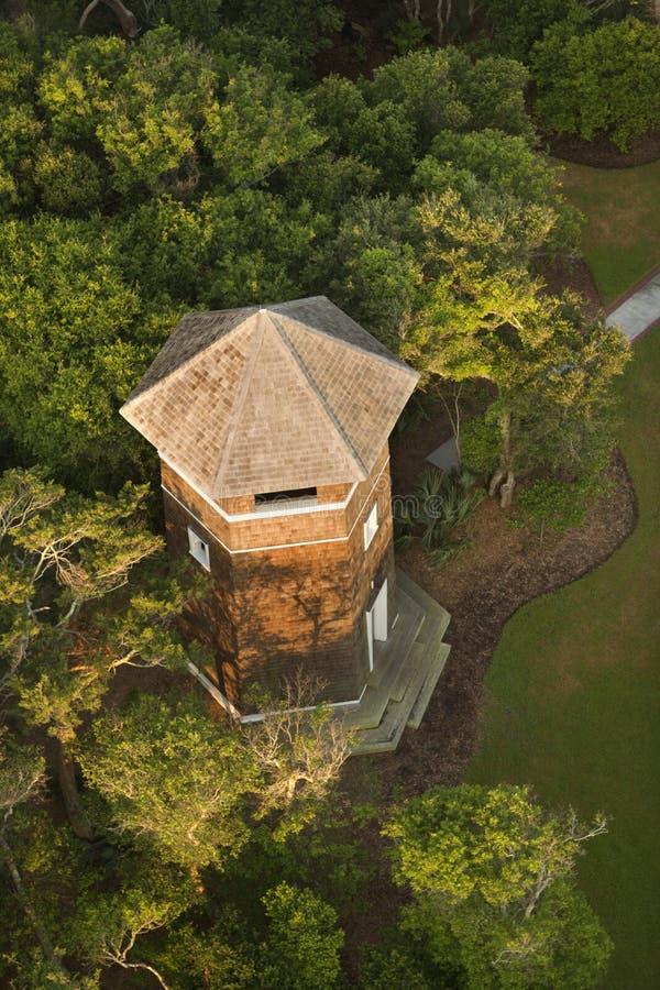 Dessus de toit de tour. images libres de droits