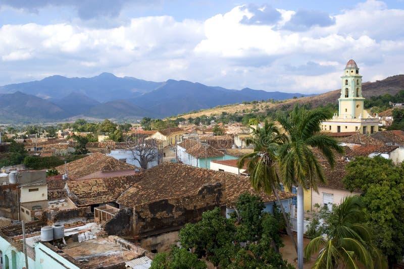 Dessus de toit du Trinidad, Cuba photos libres de droits