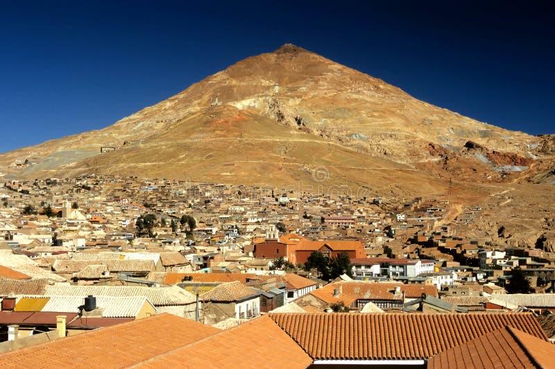 Dessus de toit - Potosi, Bolivie image stock