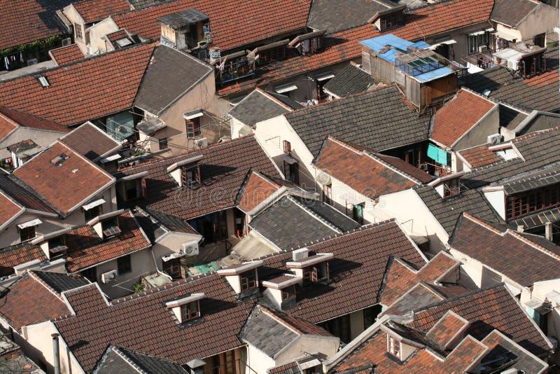 Dessus de toit rouges photo libre de droits