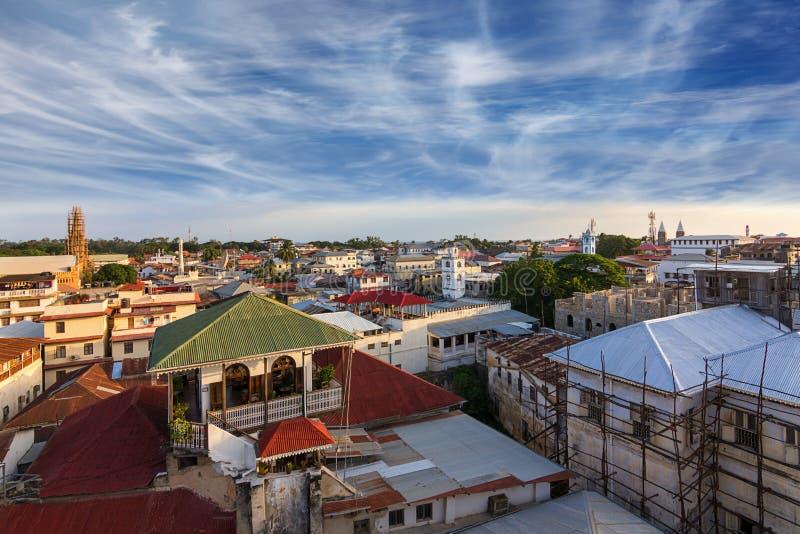 Dessus de toit Zanzibar de ville photo libre de droits