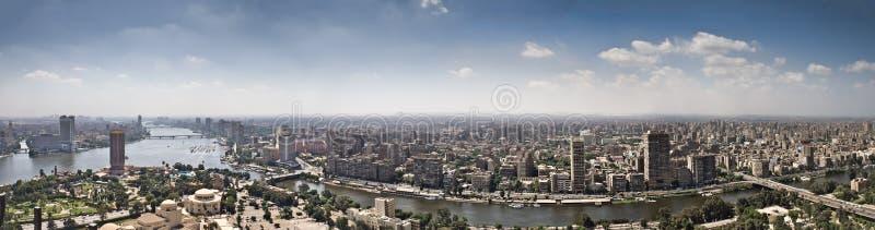 Dessus de ville du Caire de tour de TV images libres de droits