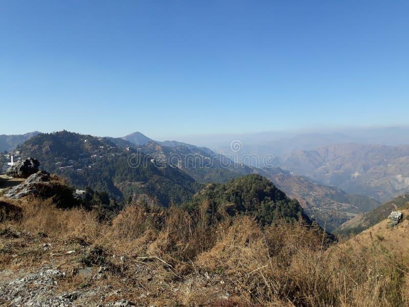 Dessus de vue supérieure de Manali de la colline photographie stock