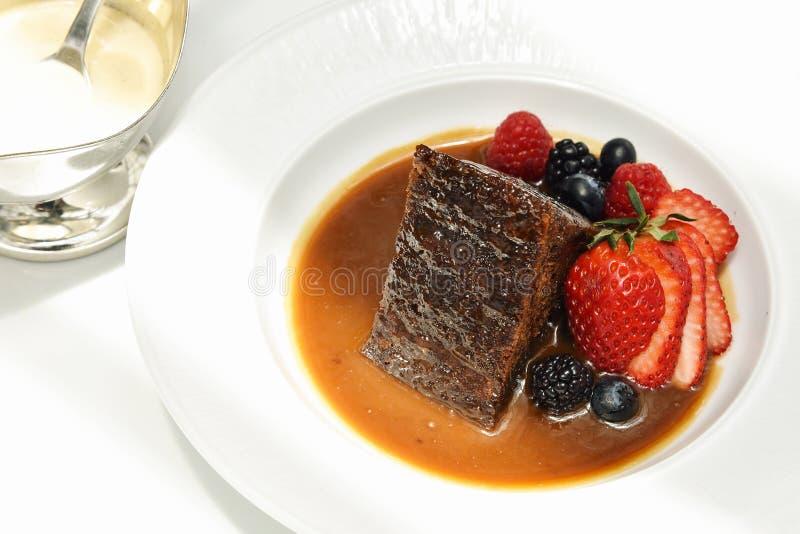 Dessus doux de dessert avec des baies, fruit frais organique image libre de droits