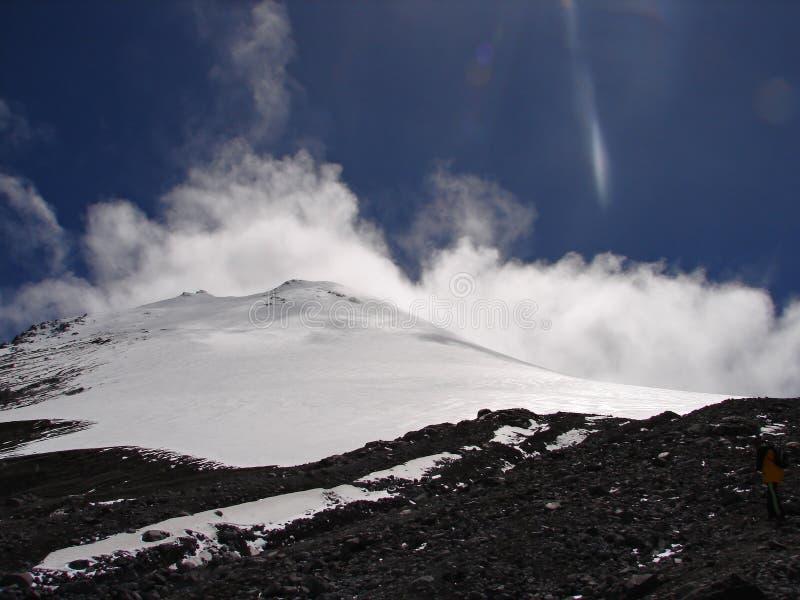 Dessus du volcan Orizaba (Citlaltépetl), photographie stock libre de droits