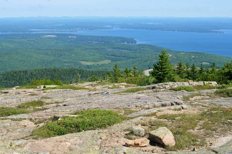 Dessus rocheux Parc national d'Acadia photos libres de droits