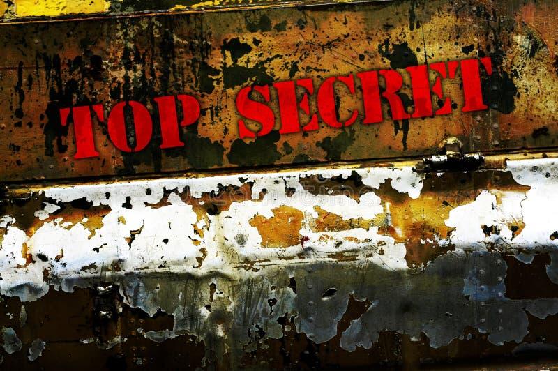 dessus secret photographie stock