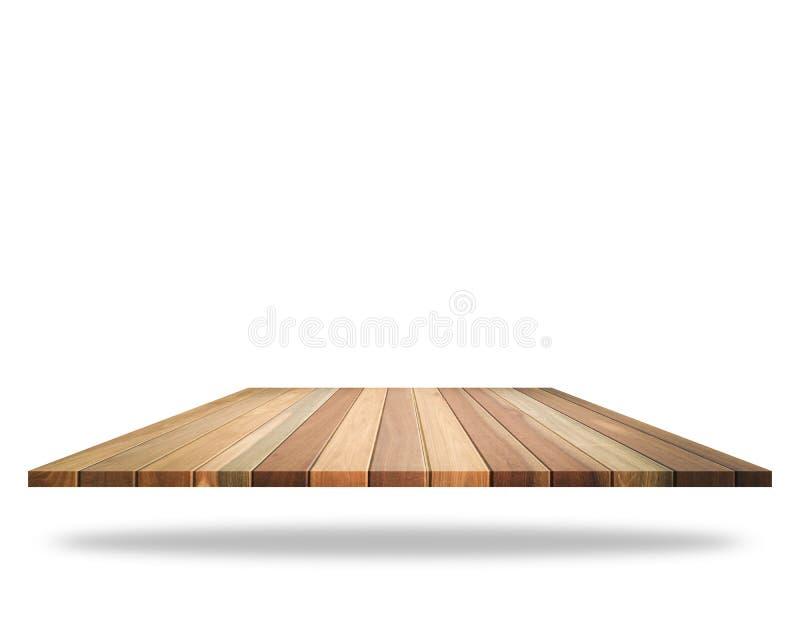 Dessus vide du plancher en bois d'isolement sur le fond blanc économisé images libres de droits