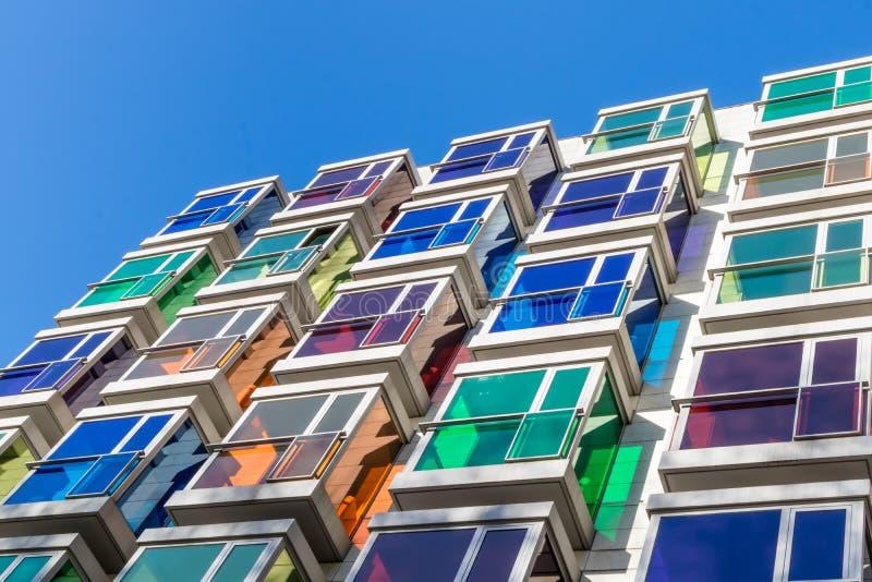 Destaques arquitetónicos e turísticos da cidade de Bilbao dos lugares imagens de stock royalty free