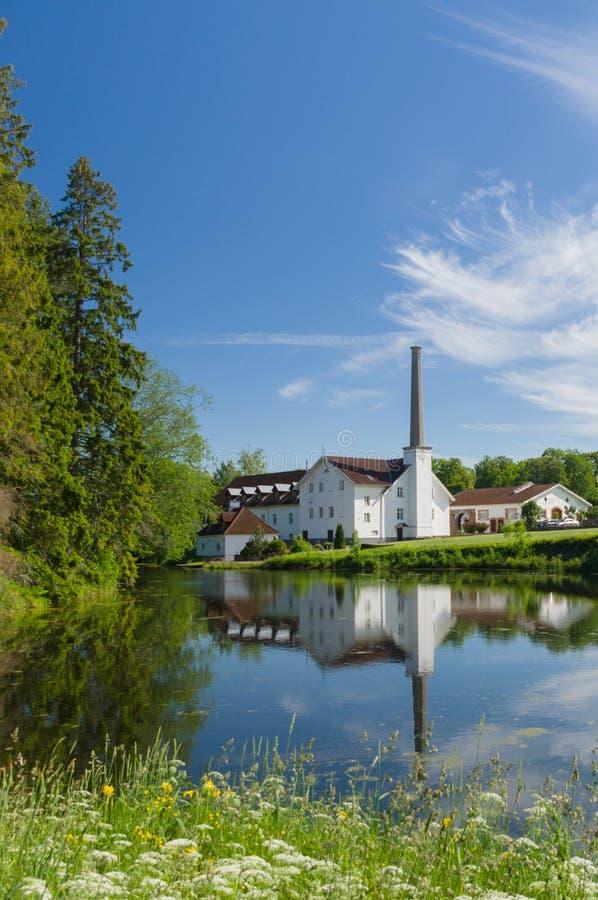Destilaria de Palmse, Estônia imagens de stock