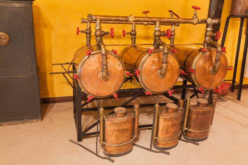 Destilería de vino vieja foto de archivo