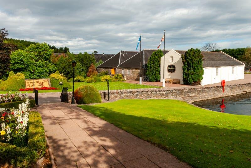 Destilería del whisky de Glenfiddich - Escocia - Reino Unido fotografía de archivo