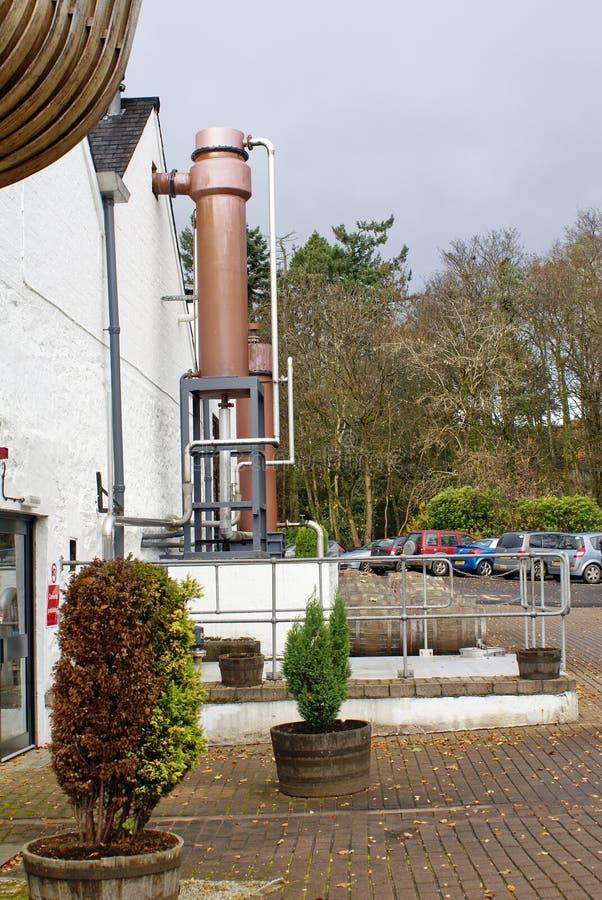 Destilería famosa del urogallo fuera de Edimburgo, Escocia imagen de archivo