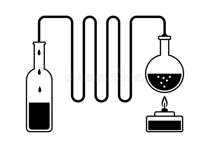 destillationsats stock illustrationer