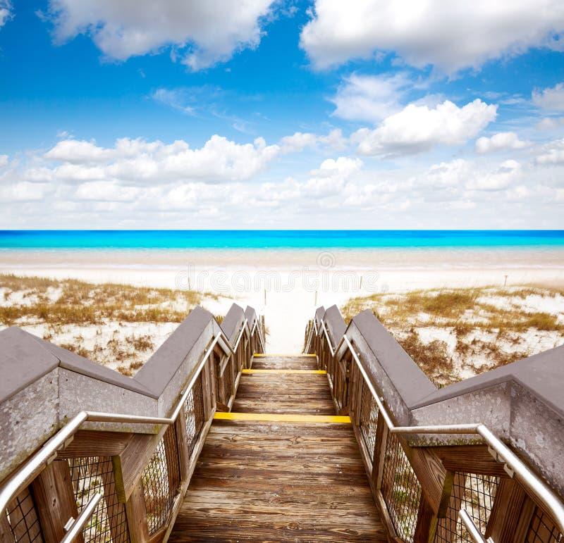 Destin beach in florida ar Henderson State Park royalty free stock image