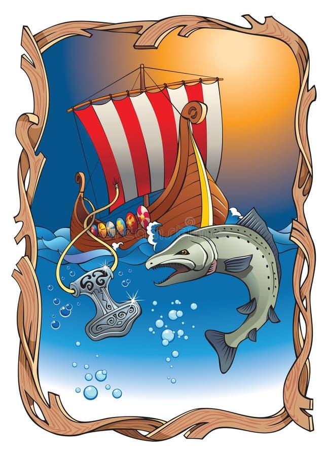 Destin de Vikingâs illustration stock