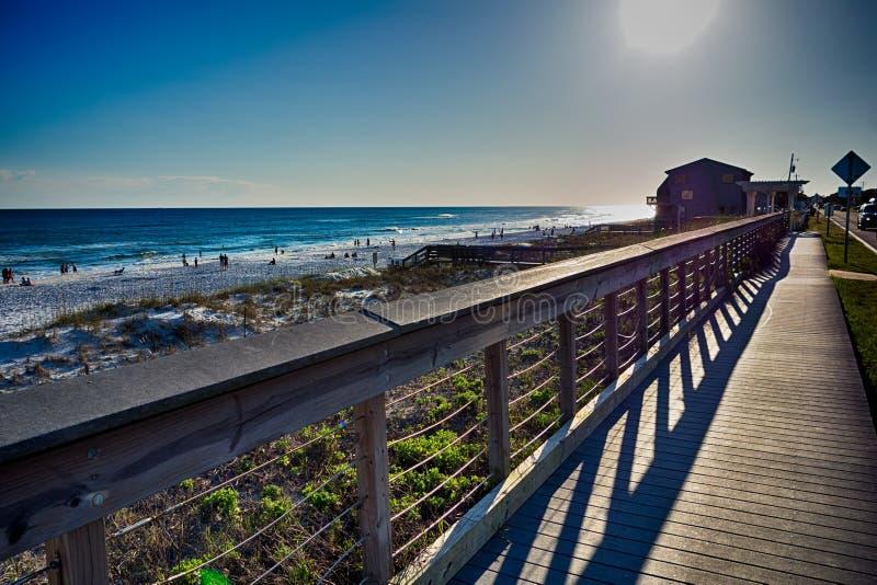 Destin florida strandplatser arkivfoton