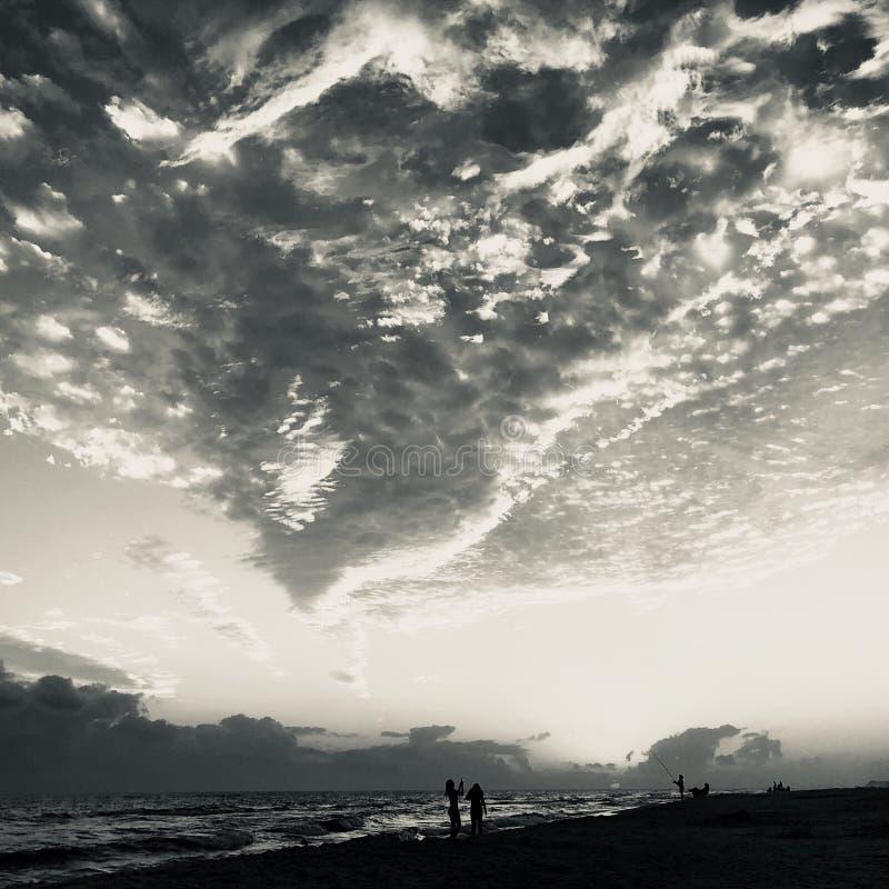 Destin plaża przy półmrokiem obrazy royalty free