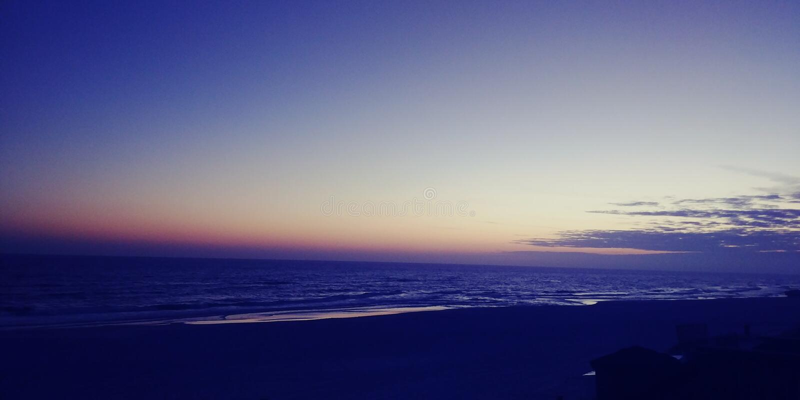 Destin solnedgång arkivfoto
