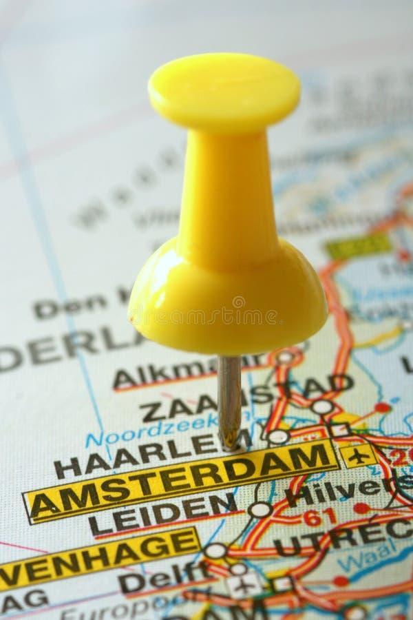 Destinación Amsterdam foto de archivo