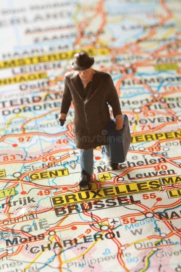 Destinación Bruselas fotos de archivo