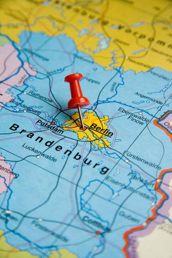Destinación del recorrido - Berlín fotografía de archivo