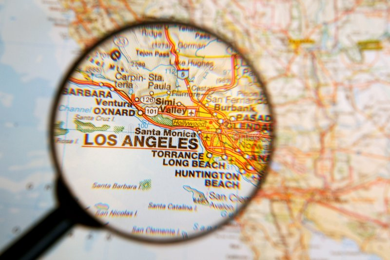 Destinación Los Ángeles fotografía de archivo