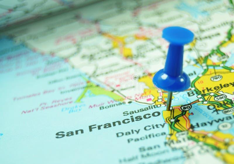 Destinación: San Francisco, los E.E.U.U. imagen de archivo