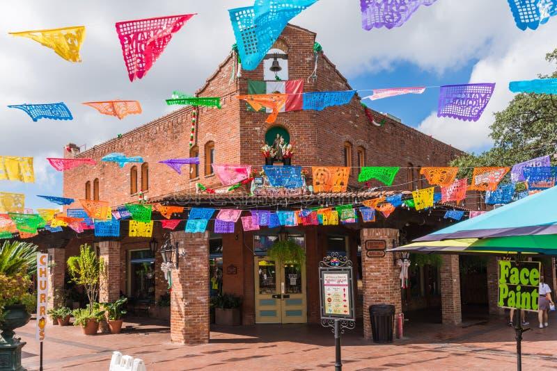 Destinati mexicain historique de touriste de centre commercial de place du marché images stock