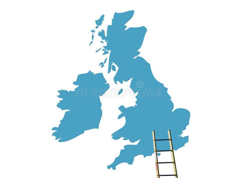 Destination BRITANNIQUE illustration libre de droits