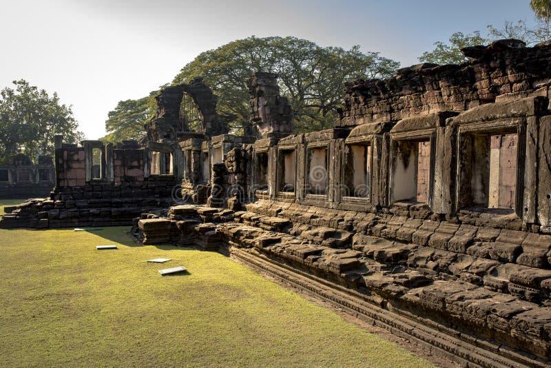 Destination de déplacement historique importante de phimai de hin de Prasat dedans photographie stock libre de droits