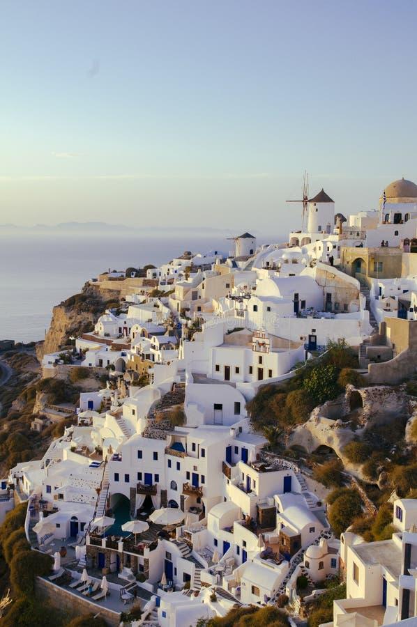Destination et paysage de voyage d'île de Santorini image stock