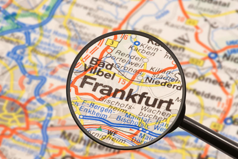 Download Destination Frankfurt stock image. Image of magnifying - 11252933