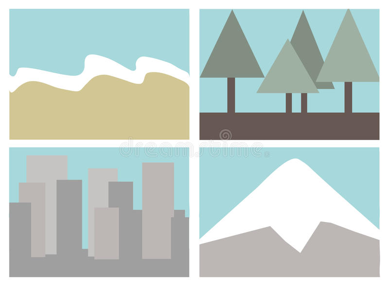 Download Destination icons stock vector. Image of icons, pine - 23772182