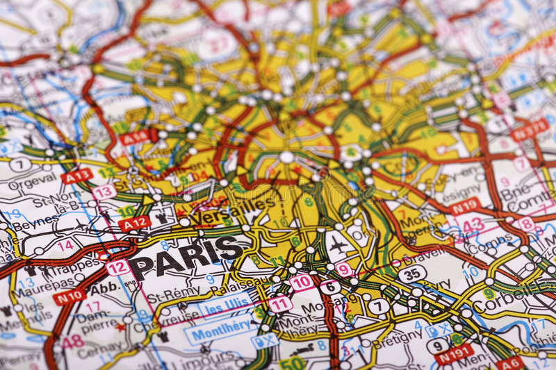Download Destination: Paris stock photo. Image of sharp, mapping - 7964470