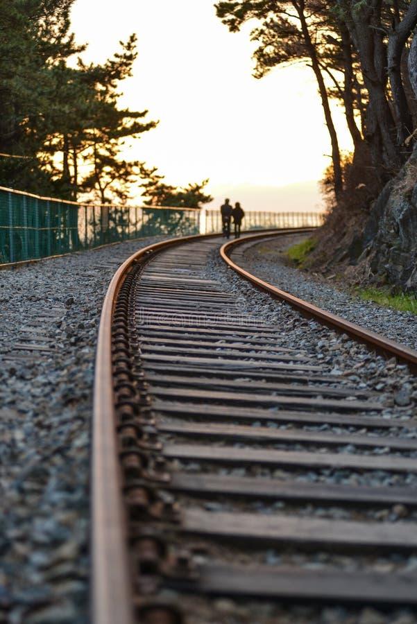 Destination unknown : Metaphore, travel tracks royalty free stock image