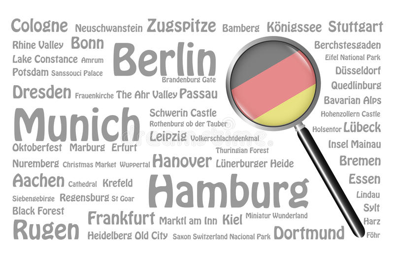 Destinations de voyage de concept de l'Allemagne illustration de vecteur