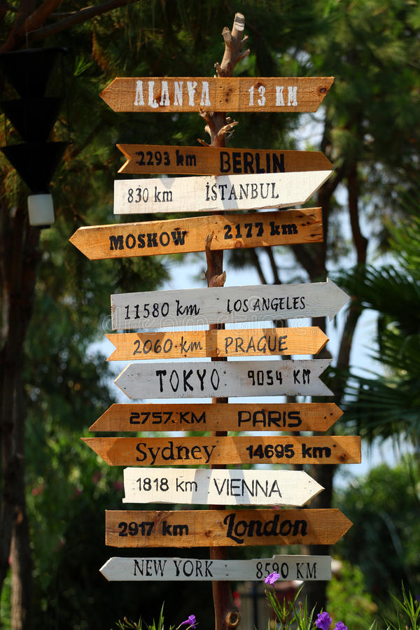 Free Destinations Sign Royalty Free Stock Image - 66191756