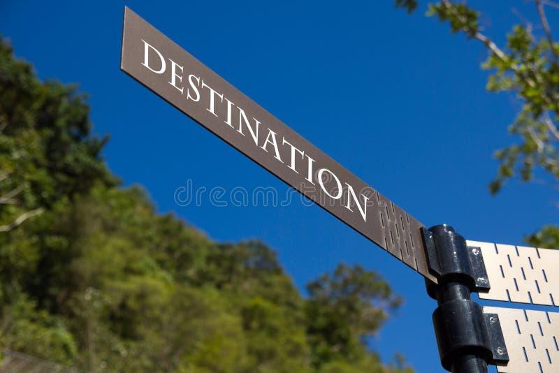 destinationstecken royaltyfria bilder