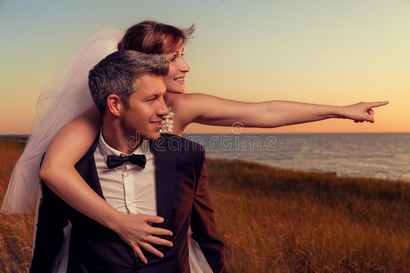 Destinazione di nozze fotografie stock libere da diritti