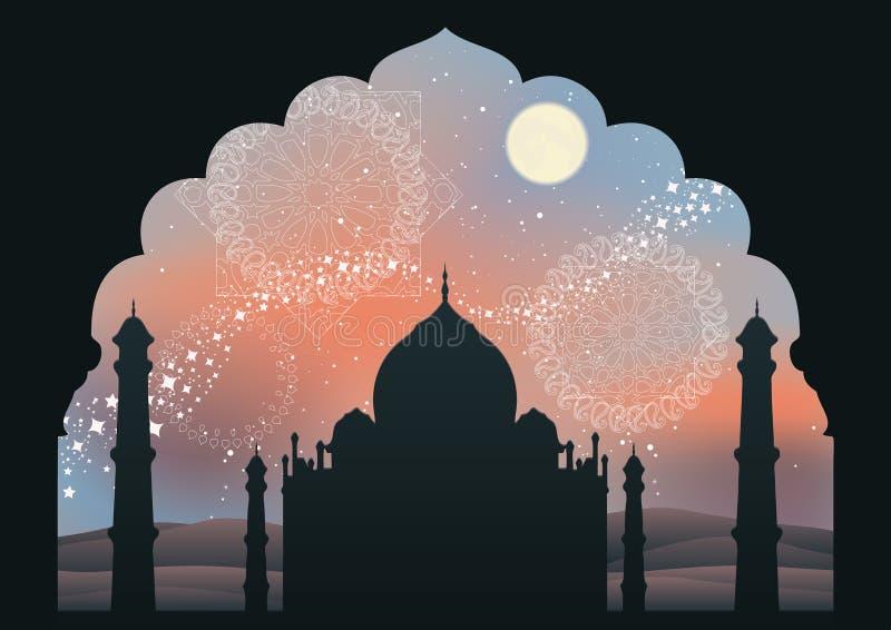 Destinazione di sogno dell'India illustrazione di stock