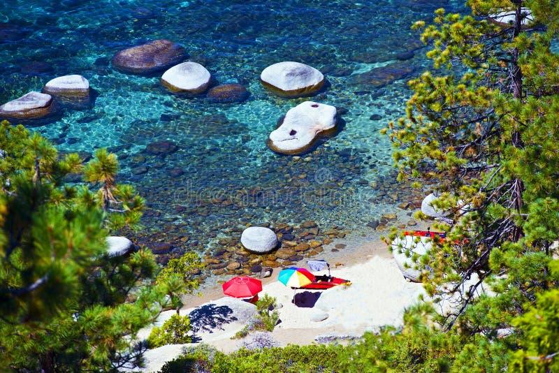 Destinazione di vacanza del lago Tahoe immagine stock
