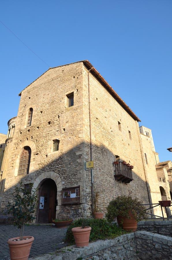 Destinazione italiana, Anagni, regione del Lazio fotografia stock