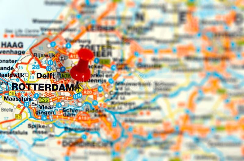 Destinazione Rotterdam di corsa fotografie stock libere da diritti