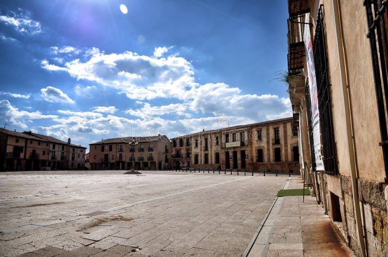 Destinazione spagnola, Medinaceli, città storica immagini stock libere da diritti