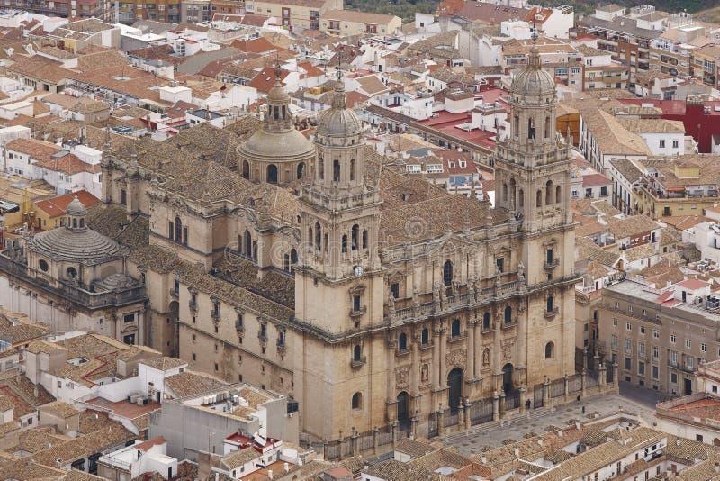 Destinazione turistica spagnola Cattedrale di Jaen Corsa in Spagna fotografia stock
