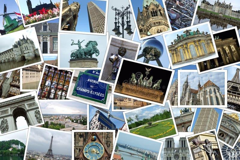 Destinazioni europee di corsa immagine stock