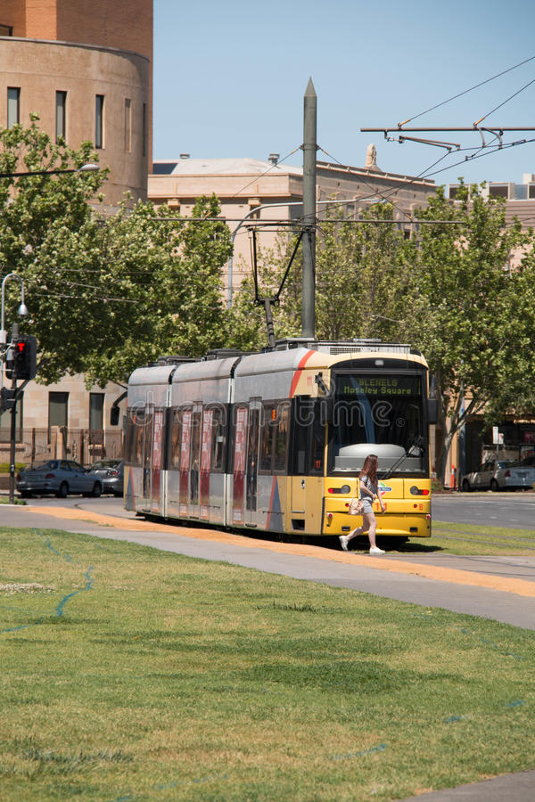 Destino de la tranvía concurrente de Adelaide, Australia diverso fotos de archivo libres de regalías