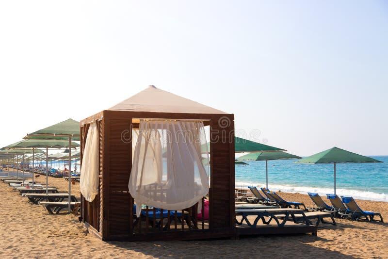Destino exclusivo de férias de praia imagens de stock royalty free